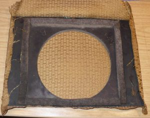 vintage radio loudspeaker cloth