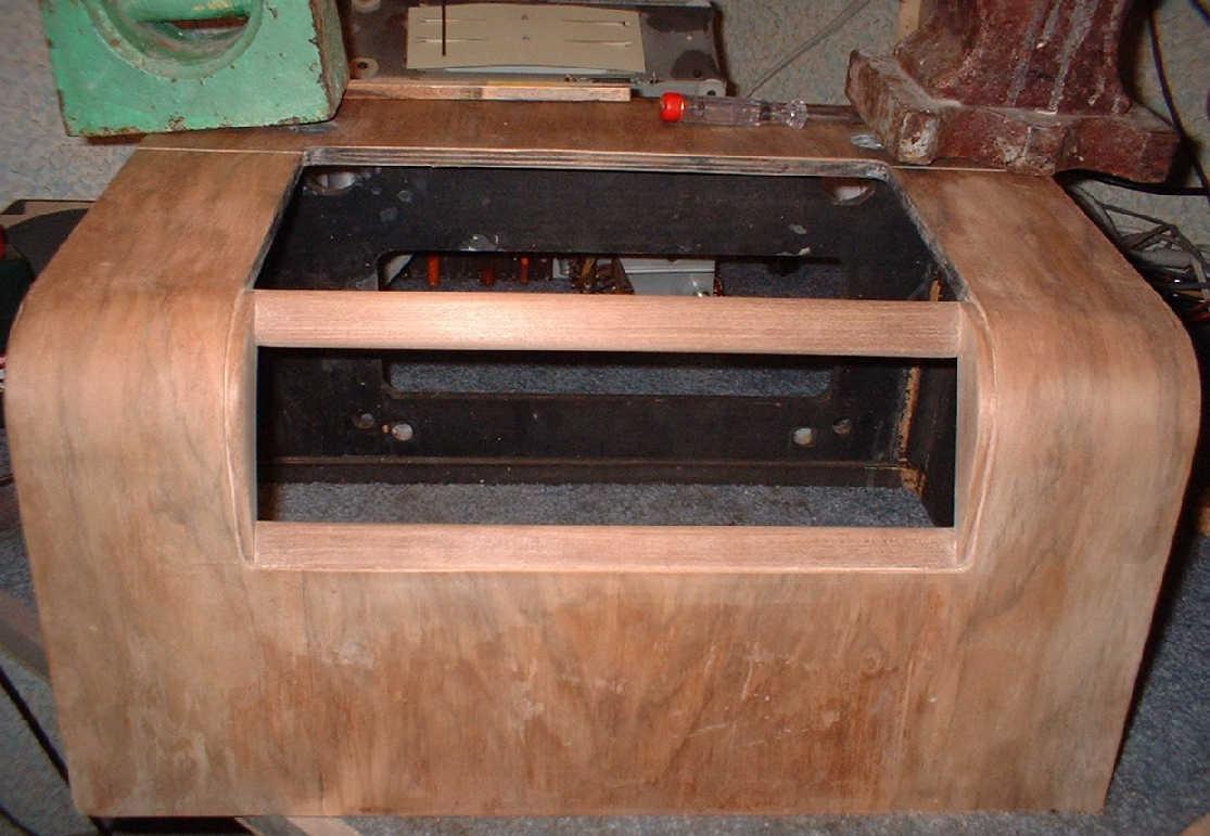 Valve radio cabinet repairs