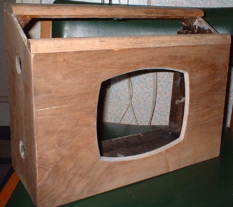 Vintage radio cabinet