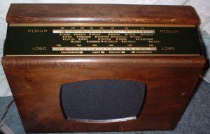 Vintage valve radio wood cabinet