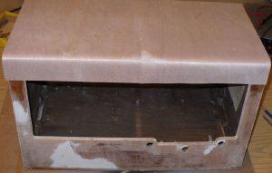 valve radio wood case veneer