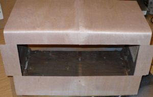 glue venner to repaired cabinet
