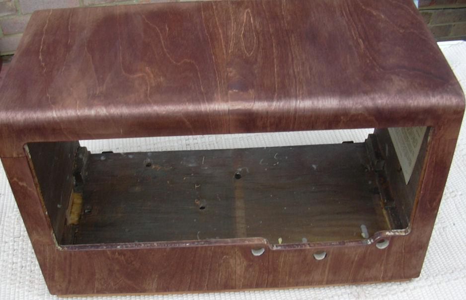 vintage radio stain new veneer