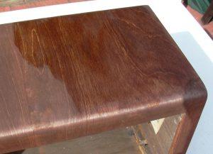 valve radio wood polishing
