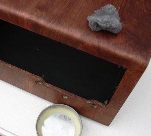 restoring veneer on old radio