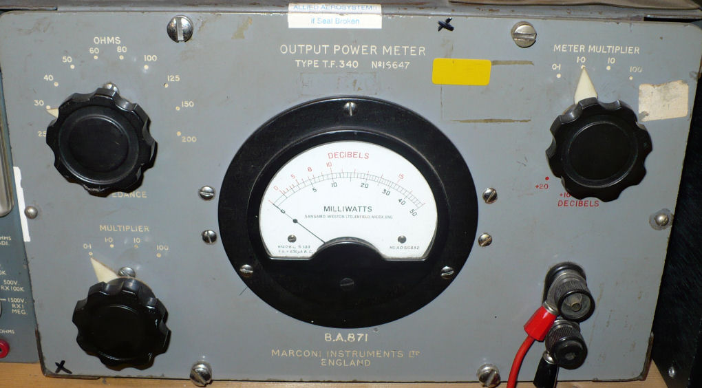 Audio power output meter