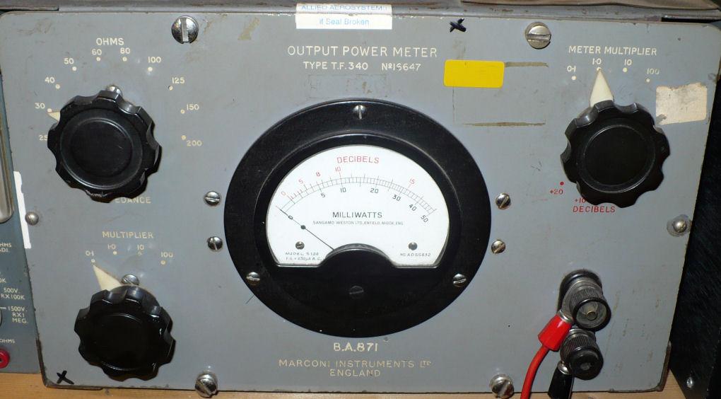 Audio power output meter