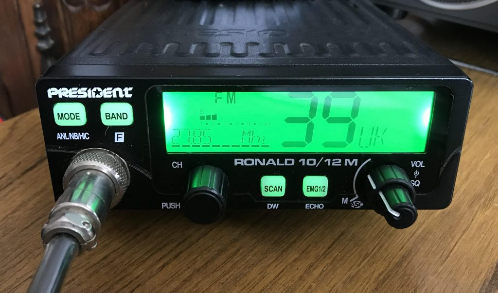 President Ronald 10/12 metre 10 and 12 metre plus CB transceiver