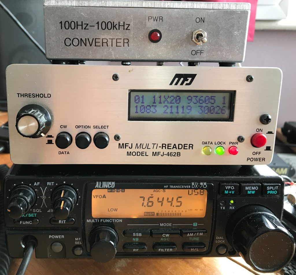 RTTY MFJ Multi Reader with Alinco DX70
