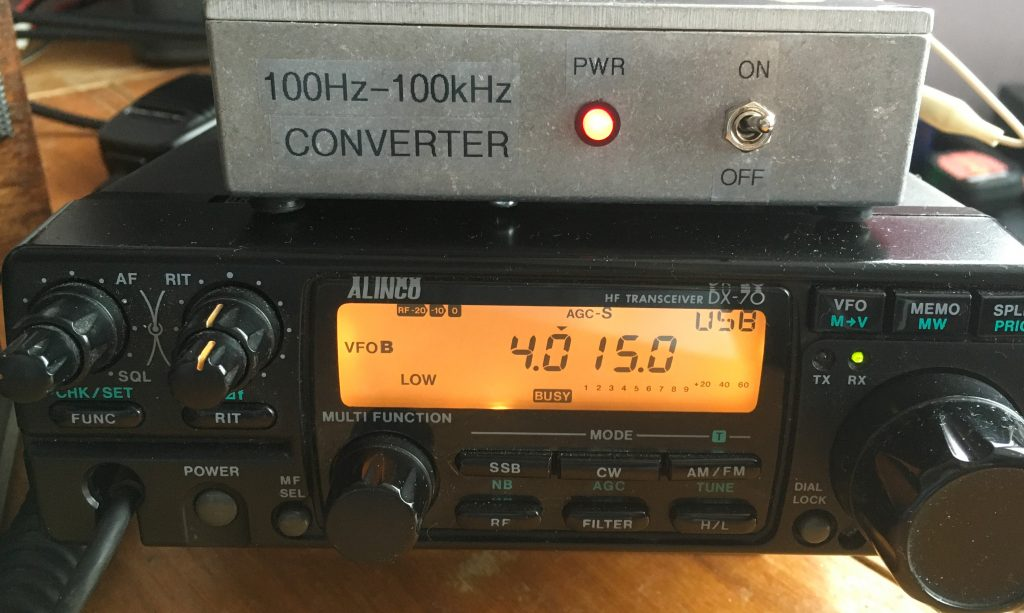 Alinco DX70 with VLF converter