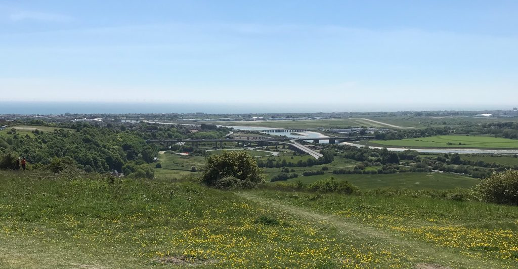 Mill Hill looking south over River Adur.