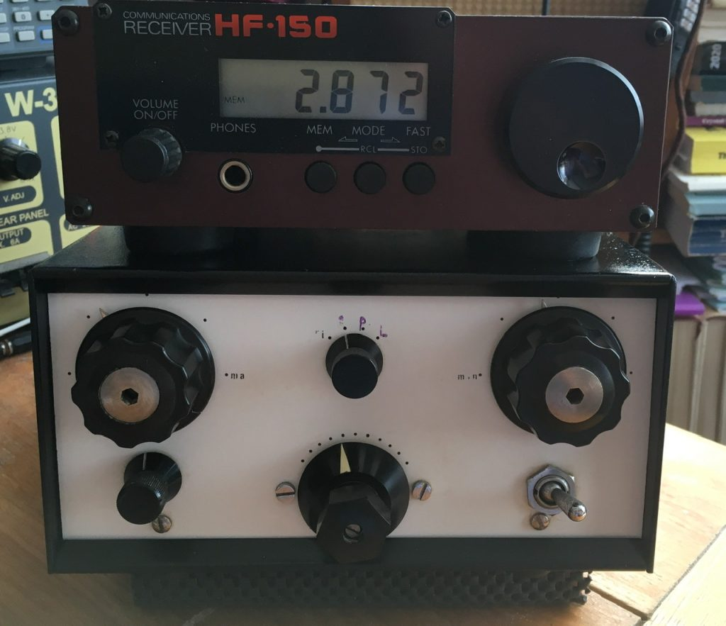 The ATU with the Lowe Hf150 receiver