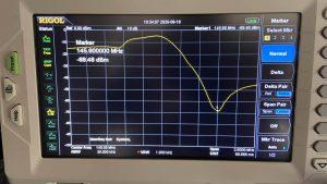 GB3RW Spectrum Analyser