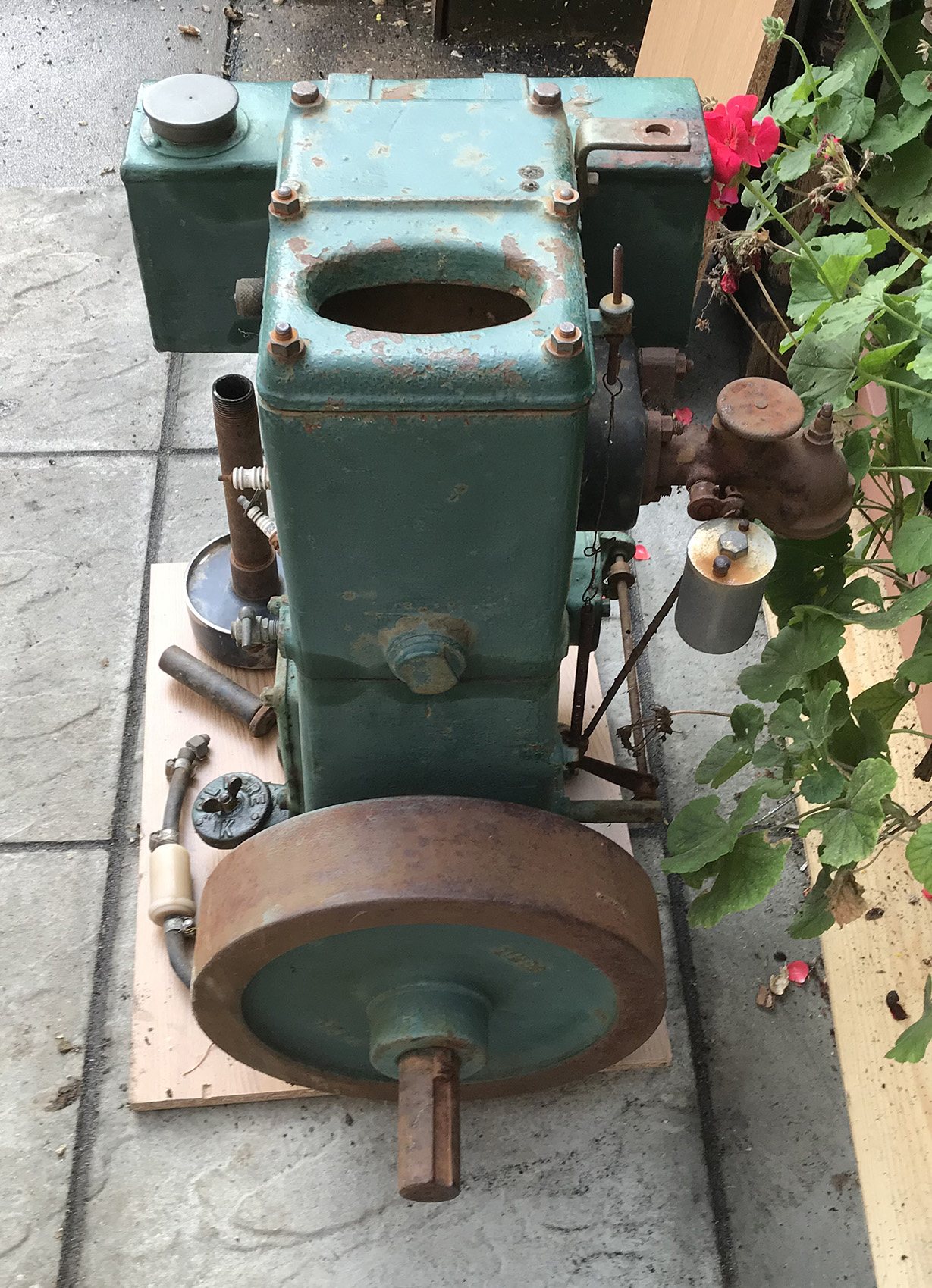 Lister type D stationary engine