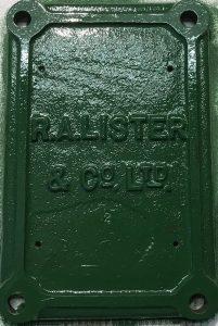 Lister D engine crank case door painted
