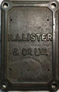 Lister D engine crank case door