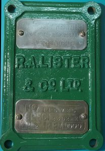 Lister D crank case door