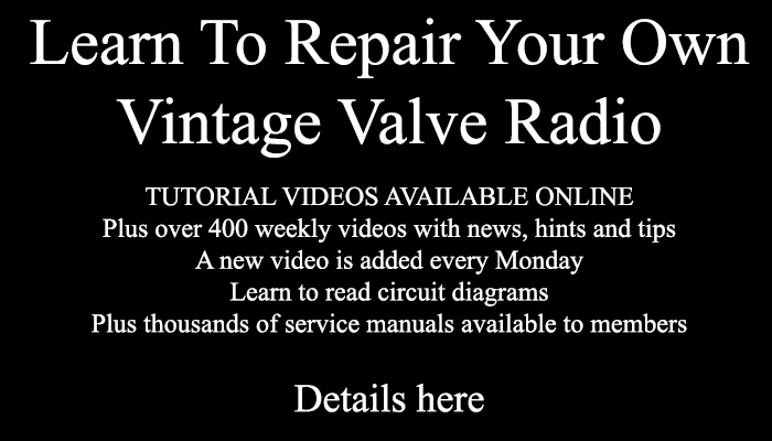 Learn hopw to repair your own vintage valve radio
