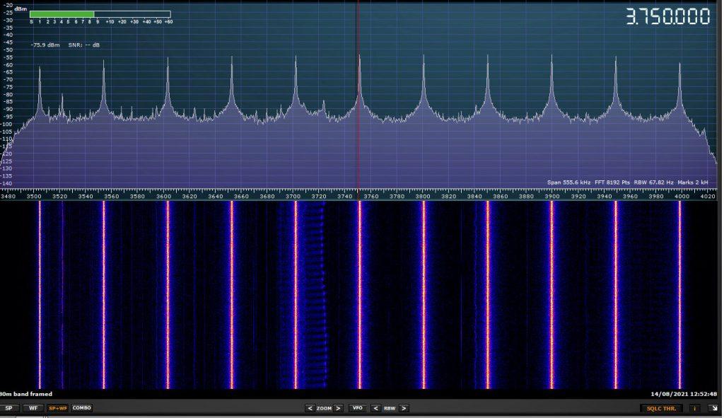 G4NSJ - SDRplay RSP2pro 80 metres