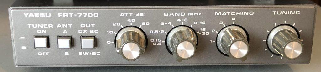 Yaesu-FRT-7700-controls
